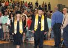 The first two graduates Kaylee Anderson and Brody Arlaud walking up for the 2018 Commencement Ceremony at the Clearbrook-Gonvick High School.