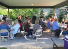 Many People attended the Flag Day Ceremony at the Oklee Area Veterans Memorial Park.