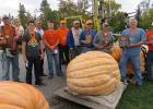 Pumpkin winners in the Gonvick Pumpkin membership winners were from left to right: Harper, McKinley and Nathan Watne, Dylan Owens, John Johnson, Tanner Pettersen, Erv Wicham, Charlie Bergh, Alan Danielson, JJ Solberg, Bob Edevold and Tucker Johnson.