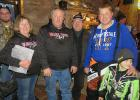 The Lengby Fosston Knightriders Snowmobile Club  announced the winner of the Dash for Cash. From left to right is Neil Harmon (Vice president Knightriders), Patty Eichstadt, Mike Eichstadt ($3,000 winner), Leroy Sanderj (Knightriders Board of Director) Mark Fjerstad (President Knightriders), Ashton Fiedler (who picked the 4 winning tickets).