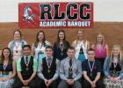 Academic Honorees from Senior class at RLCC: (back row) Brittney Bray, Kayla Jaeger, Sierra Swenson, Mikayla Paradis, Kaytlin Trontvedt, (front row) Mickala Morinville, Ric Ven Auman, Cody Gagner, Cameron Lundeen, Brian Roue, and Madison Thompson. (Not pictured Brittany Kelley)
