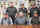 Clearbrook Elevator Association directors and management seated from left to right: Richard Kroening, Leslie Westrum, Manager, and Scott Anderson. Standing from left to right: Tyler Johnson, Nolan Eck and Mark Strandberg.