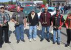 Car Show winners left to right: Neil Bursheim McIntosh; David Hagen St. Hilaire; Larry Anderson, Gully; Arden Niemi, Felton; Jerry Lowe Jr., Grand Forks and Mary St. George from Bagley.