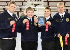 Bryce Evje and Nathan Johnshoy from Bagley High School, Damen Bakke and Austin Petterson from Clearbrook-Gonvick High School are headed to State Competition.