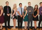 Clearbrook-Gonvick Homecoming candidates from left to right: Savanna Rankin, Chase Voxland, Danaé Stenzel, Sam Johnson, Jenna Smith, Jonah Faldet, Allison Lewis and Ben Engebretson. - Homecoming photos by Alissa Preuss.