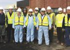 Those who went on the Clearbrook Pipeline tour are Front Row Left to Right:  George Postier, Neal Illies, Steve Green. Back Row Left to Right   John Pechin( Enbridge), Patrick Hughley (Enbridge) John Nelson, Dan Stenseng, Daryl (not sure last name , works with Steve Green in St. Paul. Bob Lisi (Enbridge), Dale Bergquist (Enbridge), taking the picture was Jen Maleitzke (Enbridge). More pictures on page 6.