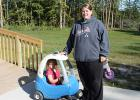 Outside at the Leonard Day Care.
