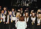 "Members of the Senior Class sang ""Compass"" as part of the commencement program on Friday, May 22nd."