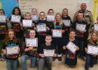 Shown is Jenny Bakke's 5th grade class from the Clearbrook-Gonvick Elementary school.