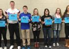 The students selected for the first quarter are:  (L to R) Sydney Tadman, Hunter Chaput, JoJo Parenteau, Rylee Haugen, Aries Qualey, Adreanna LaCoursiere, and Baily Burcham. Congratulations!