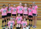 The 12's team competed in Bagley and took second place.  Way to go ladies!! The Northern Rebels 12's team is coached by Ashley Schow. Pictured  front row: Olivia Paradis, Alivia Winter, Tabitha Bratager, back row: Felicity Andress, Mia Thompson, Grace Kaupang, Savannah Svalen, Katelyn Vesledahl, Kendyl Nelson (not pictured Paige Brekkel) and Coach Ashley Schow.