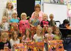 Plummer kindergarten class with their teacher Jami Hendrickson.