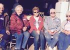 Pond School classmates. L to R: Wayne Johnson, Dorothy Sundbom Johnson, Donna Pond Olson, Beverly George Lundmark, Marilyn George Emery.