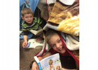 William Klawitter and Hudson Smeby read last Friday as Win-E-Mac school took part in ReadQuest.