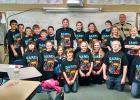 Approximately 115 fifth grade students from the Bagley and Clearbrook-Gonvick schools graduated from the Clearwater County D.A.R.E. (Drug Abuse Resistance Education) program. Clearwater County Sheriff Darin Halverson is the D.A.R.E. instructor and this was his 19th year of teaching the program. The D.A.R.E. program is designed to teach students good decision-making skills to help them lead safe and healthy lives.  Pictured  is Rich Loehlein's 5th grade class.