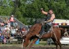 Bronco riding is part of the Gonvick Lions Club nine event rodeo that will be held in Gonvick on Friday, July 14 and Saturday, July 15. The full nine event rodeo will be starting at 6:00 p.m. both nights and will feature Wojo's Rodeo company.