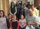 Celebrating Christmas with the family in the hospital. Many holidays and birthdays were celebrated at the University of Minnesota. McKenzie Hamm, Mia & Callen Carriere, Malayna Hamm, Bob, Kelly & Jamie Carriere, Tracy & Ron Hamm, and Sue Carriere.