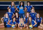 7th grade Volleyball – Front: Vivian Coan, Madison Paulson, Trinity Walseth. Middle: Madison Cullen, Chloe Kuznia, Kansas Jensen, Mya Anderson, Courtney Vad, Hailey Knutson. Back: Jamie Dougherty, Coach Syra Naik, Shyann Harske.