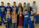 Front row, L-R: Amy Wiskow, Layla Jelle, Trystan Jelle, Jeremy Wiskow and Jacob Tharaldson. Back row, L-R: Kaleb Sjulestad, Blake Nerhus, Peyton Verbout, Shantel Verbout, Ty Jelle, Jesse Wiseth and Dylan Walker. GO CHARGERS!