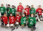 The Grygla Ice Devil's hosted the 2nd annual youth hockey day in Grygla last Sunday. Local K-7 graders had a fun afternoon full of skating and friendly competition! Pictured above is the K-3 team. Front row, L-R: Abby Edberg, Joe Stinson, Paizley Moe, Jens Oslund, Gus Jones. Back row: Ray Moe, Connor Boutain, Cooper Aune, Gavin Aune, Jack Bessler, Payton Dougherty and Dawson Braaten. Jerseys were purchased for the event and will stay at the arena for future use.