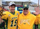 Pictured with Daniel is his uncle Godfrey Friedt, who attended the championship game in Frisco. Godfrey was cheering for the Bison as a proud uncle, a proud fan and a proud NDSU alumnus!