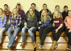 Candidates include, L-R: Kameron Dahl and Ashley Moe (Seniors), Clayton Irlbeck and Shawntel Ignaszewski (Juniors), Jake Ahlbeck and Cheyenne Irlbeck (Sophomores), Evan Fish and Layla Jelle (Freshmen), Jared Haack and Courtney Vad (8th grade), Andrew Loken and Ellie Sabourin (7th grade).