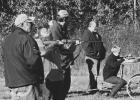 Danny Haack, Kelly Dahlen and Donald Haack focused on target shooting with the youth. Pictured above is Elise Monson, along with Walter Jones.