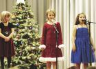 """Chey Mickelson, Ava Sorvig & LaKylie Brobst in the Grygla Elementary program """"Ring, Ring the Bells"""" that was held last Friday afternoon."""