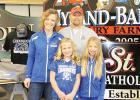 Salo Signs are popping up all around us! The custom sign company, based out of Goodridge, Minnesota, also offers custom decorated apparel and embroidery, and is owned and operated by Jason & Courtney Salo. Pictured are Jason, Courtney, and their daughters, Chesney (left) and Jorja (right).