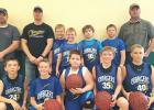 Pictured  front row, L-R: Carson Rubishko, Blake Rychlock, Nick Hagen, Lewis Jones, Russell Ryan. Back row: Coach Josh Loken, Coach David Jones, Chase Manderud, Spencer Coan, Dominic Wilson, Christian Loken and Coach Joey Rubishko.