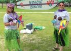 "Last year, Chix from the Stix set up their campsite at Relay for Life with a ""Wipeout Cancer"" theme. Pictured are sisters, Tausha and Shaunna, who are both members of Grygla's Relay team. This year, the Chix will be setting up their site in Warren with a baseball theme to help ""Strikeout Cancer."" Photo taken from the June 14, 2017, Grygla Eagle Newspaper"