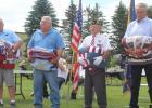 Veterans honored, L-R: David Schlofer, Rodney Hoffman, John Lovly and Roger Pittman.