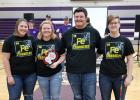 Team 4149C took home the Imagine! Create! Succeed! Design Award, which gives them an automatic invite to the state tournament! L-R: Abby Kiesow, Bailey Watne, Jake Ahlbeck and Olivia Tykward.