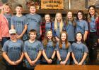 "This group of Grace/Our Savior's Lutheran Church kids attended the 2019 NW MN Synod Middle School Gathering ""Heard"" last weekend at Luther Crest Bible Camp in Alexandria. Front row, L-R: Raymond Moe, Brody Saurdiff, Kinsley Oslund, Allie Sundberg and Emily Johnson. Back row, L-R: Jamie Aune (Chaperone), Blake Rychlock, Gain Aune, Addison Severts, Anna Sundberg, Ava Sorvig, Lakylie Brobst and Kari Sundberg (Chaperone). Photo courtesy of Kari Sundberg"