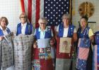 Members of the VFW Ladies Auxiliary 3858 have been helping veterans for years by making and donating quilts that they send to the Fargo VA Hospital. Pictured from L-R is Rose Hanson, Barb Picolett, Ida Stanley, Cheryl Sistad, Sue Aune and Irene Smith. The group has been coordinating and participating in this activity for years and helping those who have served our country is what they stand for.