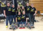 The 4149C and 4149G teams allied to win the entire tournament at NCTC last Saturday. They are, in front, Trystan Jelle and Bailey Watne. In back, L-R: Jake Ahlbeck, Abby Kiesow, Elise Monson, Julianne Nordby, Chris Luttrell and Olivia Tykward. 