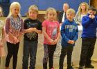 Goodridge Kindergarten class performed at the Veterans Day program.