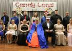 Royalty included, L-R: Ellie Sabourin and Andrew Loken (7th), Courtney Vad and Jared Haack (8th), Layla Jelle and Hunter Loken (9th), Queen Shawntel Ignaszewski and King Clayton Irlbeck (11th grade), 2016 Queen Danielle Olson and 2016 King William Holthusen (standing behind), Cheyenne Irlbeck and Jake Ahlbeck (10th), Ashley Moe and Kameron Dahl (12th).