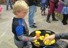 Picking a duck at the duck pond during the McIntosh Community Club Halloween Party last Sunday was Lukas Gensburger.