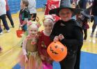 Grace and Clara Roed and their cousin, Heidee Smeby were up for some fun during the Win-E-Mac Student Council Halloween Party.