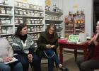 Cheryl Jore, DeeDee Narum, and Peggy Hartel learn about different Essential Oils during a recent class held at the McIntosh Country Store, presented by Bonnie Stewart.