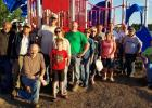 Pictured are members of the Highway 2 Cruisers Club that came out to help with the construction of the playground at Win-E-Mac School.