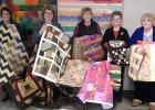 Pictured from left: Betty Tangen, Kathryn Carver,  Ilene Reierson, Lois Boehrson and Arlene Eggers.