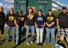 The Clearbrook-Gonvick School Trap Club attended the State Trap Shoot. Some of the members shown with their coaches from left to right: Coach Vern Wittenburg, Jason Nybo, Dawson Quern, Tamara Skinaway, Morgan Cornell, Rose Java and Coach Andy Anderson.