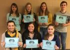 The students selected for the second quarter are:  Front Row (L to R) Breanna Carroll, Tyra Wilson, Alina Basargin.  Back Row (L to R) Mackenzie Fuller, Elly Lindberg, Hannah Smeby, Cole Shaver.  Congratulations!